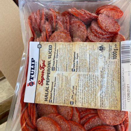 Tulip Pepperoni 1kg Packs is 8000