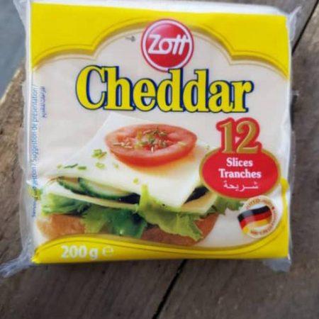 Zott Chedddar Chease 12 Slices 48 packs 45000